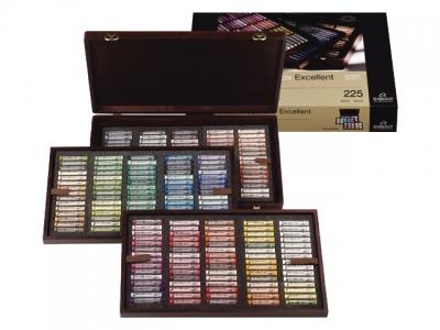 ست حرفه ای Excellent گچ پاستل نرم رامبرانت - 225 رنگ جعبه چوبی