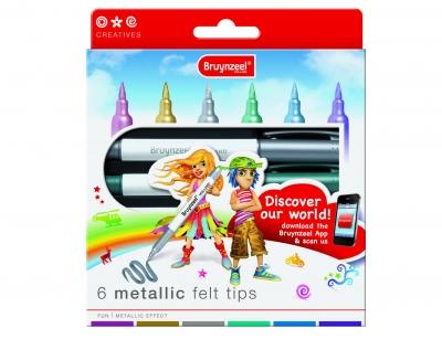 ست ماژیک براش متالیک 6 رنگ برونزیل طرح جدید- 7965K06B