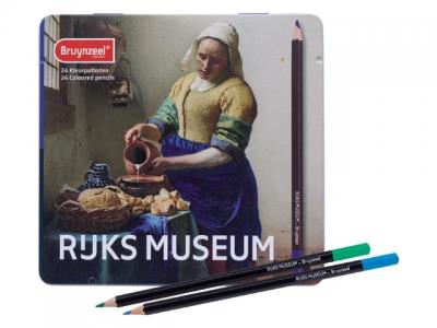 ست مداد 24 رنگ نیمه حرفه اي برونزیل Dutch Masters