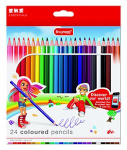 مداد رنگی 24 رنگ برونزیل طرح جدید-7545K24B