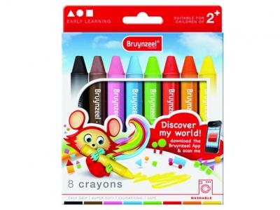 مداد شمعی 8 رنگ نونهالان برونزیل طرح جدید- 9502K08B