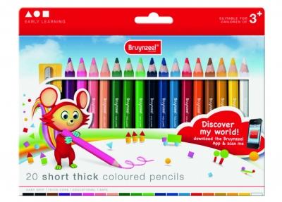 مداد رنگی 20 رنگ جامبو کوتاه برونزیل طرح جدید- 2105K20B