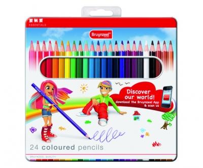 مداد رنگی 24 رنگ برونزیل طرح جدید- 8505M24B