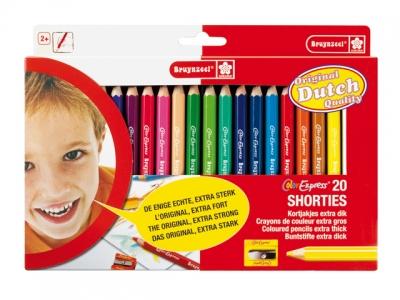 مداد رنگی 20 رنگ جامبو کوتاه برونزیل- 2105A20C