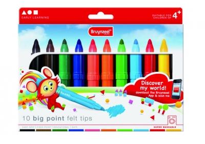 ماژیک نقاشی قطور 10 رنگ برونزیل طرح جدید- 2001K10B