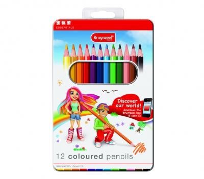مداد رنگی 12 رنگ برونزیل طرح جدید- 8505M12B