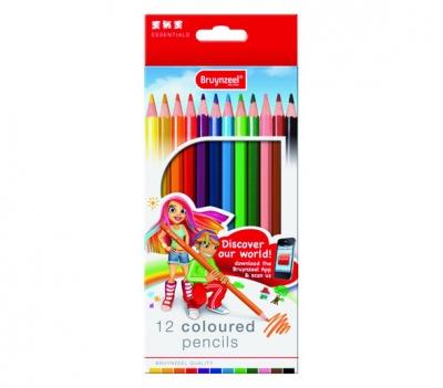 مداد رنگی 12 رنگ برونزیل طرح جدید- 7545K12B