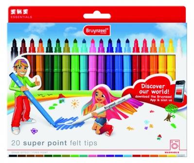 ماژیک نقاشی 20 رنک برونزیل طرح جدید- 3001K20B