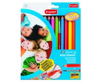 مداد رنگي جامبو 10 رنگ آبرنگی برونزیل- 3550K10C